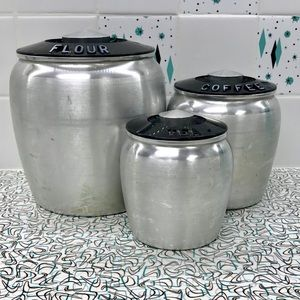 Other - Vintage 50's? Kromex aluminum canisters